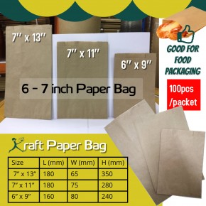 6-7 inch Paper Bag