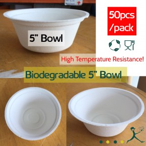 "Biodegradable 5"" Bowl"