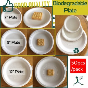 "Biodegradable Disposable Plate (7"", 9"", 12"")"