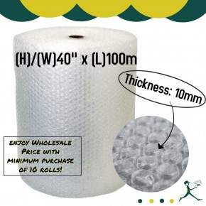 "Bubble Wrap Roll (40"" x 100m x 10mm)"