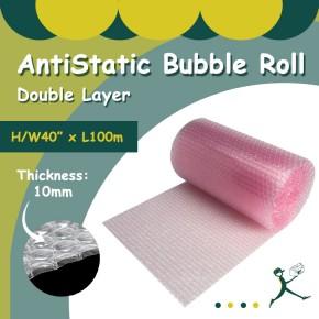 """Anti Static Bubble Rolls D/L (40"""" x 100m x 10mm)"""