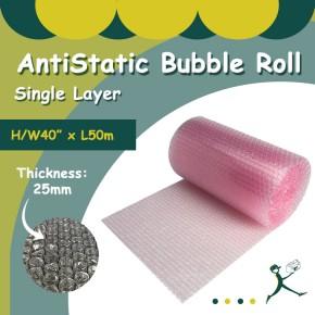 """Anti Static Bubble Rolls S/L (40"""" x 50m x 25mm)"""