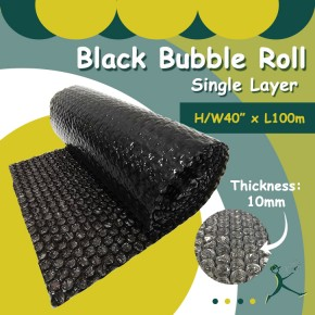 Bubble Wrap Roll (Black) S/L (40'' x 100m x 10mm)