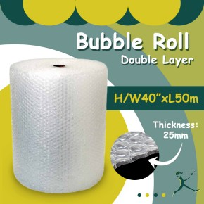 "Bubble Wrap Double Layer (40"" x 50m x 25mm)"