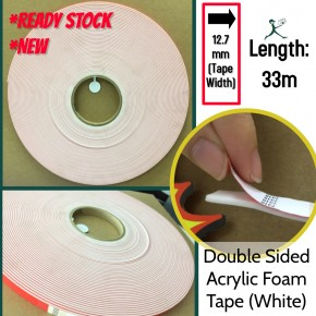 Double sided acrylic foam tape (white)