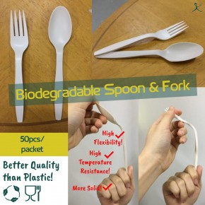 Biodegradable Spoon and Fork