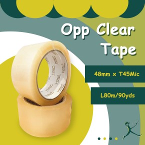 OPP Clear Tape (48mm x 45micron x 80m/90Yds)
