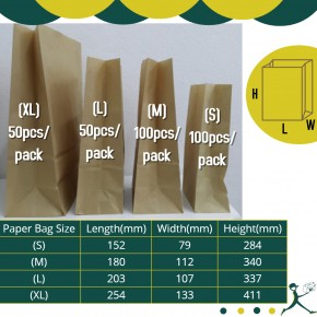 Paper Bags (Various Sizes)