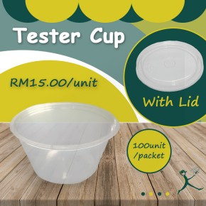 Plastic Tester Cup With Lid (30ml)