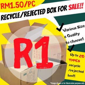 R1 Wholesale Recycle/Rejected Boxes