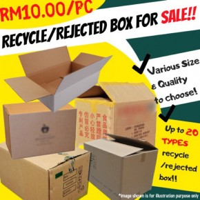 RM10.00 Wholesale Recycle/Rejected Boxes