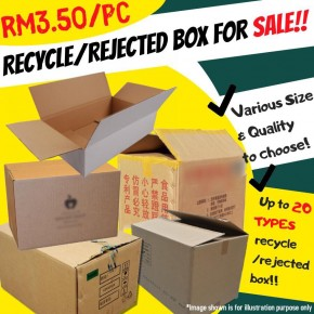 RM3.50 Wholesale Recycle/Rejected Boxes