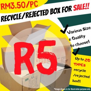 R5 Wholesale Recycle/Rejected Boxes